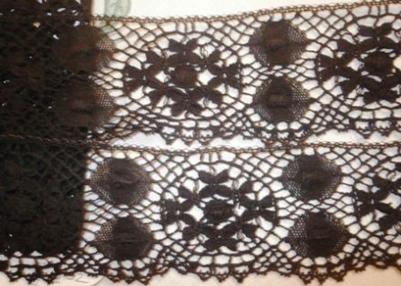 L1141 Black Cotton Nottingham Cluny Lace